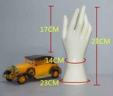 Белый правой рукой манекен украшений ногтей Поддельные Модель часы кольцо браслет Прихватки для мангала Дисплей Для женщин Манекены