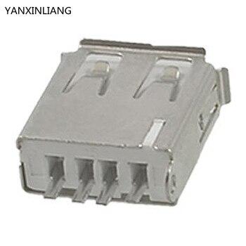 10 Stücke Gerade Solder Typ USB A Buchse Stecker Buchse Stecker