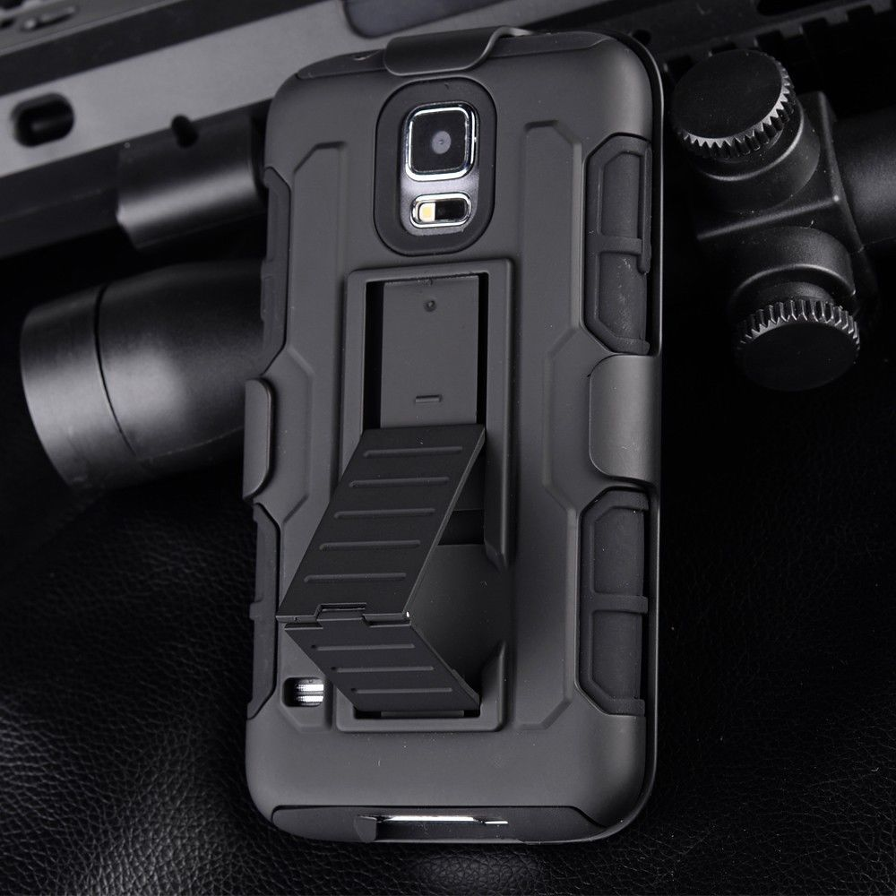 Robot Silicone Cases For Samsung Galaxy Note 2 3 4 5 Armor Hard PC Hybrid Impact Military Cover With Kickstand Belt Clip Capa