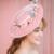 Rosa Flor Artesanal De Noiva Festa de Casamento Igreja Chapéus De Casamento E Fascinators Com Headband Headpiece Noivas Acessórios Para o Cabelo
