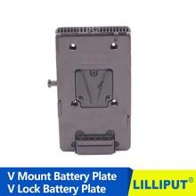 14.8 v Adaptador de Bateria BP V Monte V bloqueio Da Bateria Da Placa Pitada para DSLR Câmera De Vídeo HDMI Monitor de 4 K, caixa de Painel de Luz LED