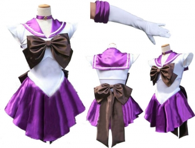 FREE PP! Sailor Moon Saturn Costume Cosplay Uniform Sailormoon Fancy Dress & Gloves Halloween Cosplay Costumes For Women