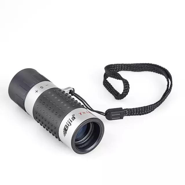 Bijia 7x18 Teleskop High Definition Ultra-Licht Mini Monokulare Tasche Durchführung Jagd Camping für Erwachsene und Kinder werkzeuge