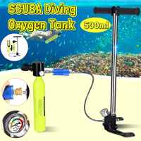 Diving Equipment Mini Scuba Diving Cylinder Oxygen Tank Snorkel High pressure Pump Adapter Snorkeling Underwater Breathing