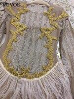 Элегантный dubia Черное золото партии платье Перо аппликации Перл Империя платье Многоуровневое Праздничное платье халат De Soiree b 61