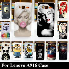 Hard Plastic Case For Lenovo A916 Mobile Phone Cover Bag Cellphone Housing Shell Skin Mask Color Paint Shipping Free