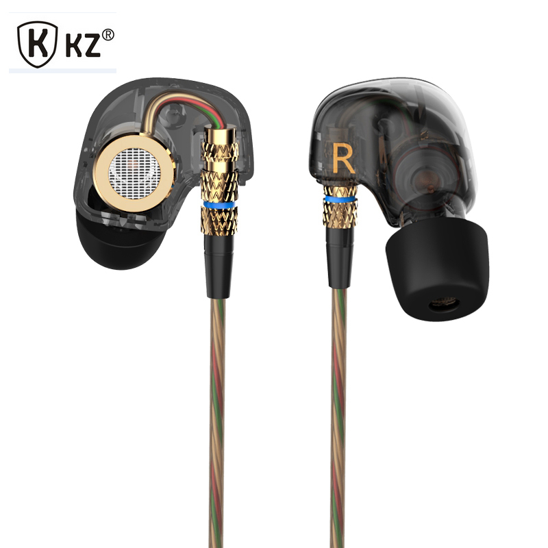 KZ ATE High-fidelity Copper Conductor Earphones In Ear Earphones Performance With Mic Super Bass Sport For Mobile Phone