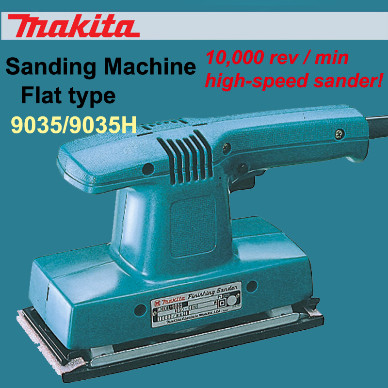 New Japan Makita 9035 Flat Type Sandpaper Machine 9035H Woodworking Polishing Sanding Machine Vibration Grinding 160W/180W  taiwan hundred people bm 3001 pneumatic track sandpaper machine grinding machine grinding machine sanding machine square