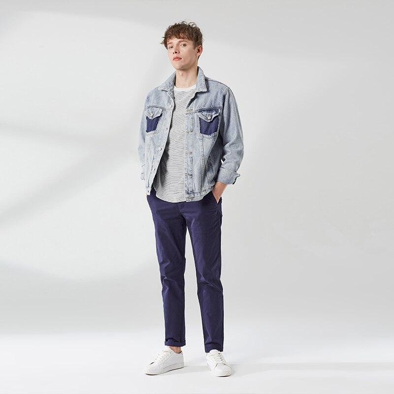 Markless Denim Jacket Men 2019 Spring Slim Fit Retro Jeans Jacket Jaqueta Masculina Fashion Denim Jacket Mens Coat  Jka9101m