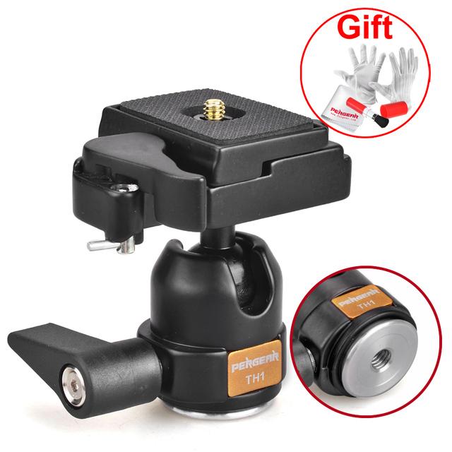 Pergear th1 professional 360 fluid rotação tripé cabeça ballhead para canon nikon sony dslr câmeras tripe p0014087