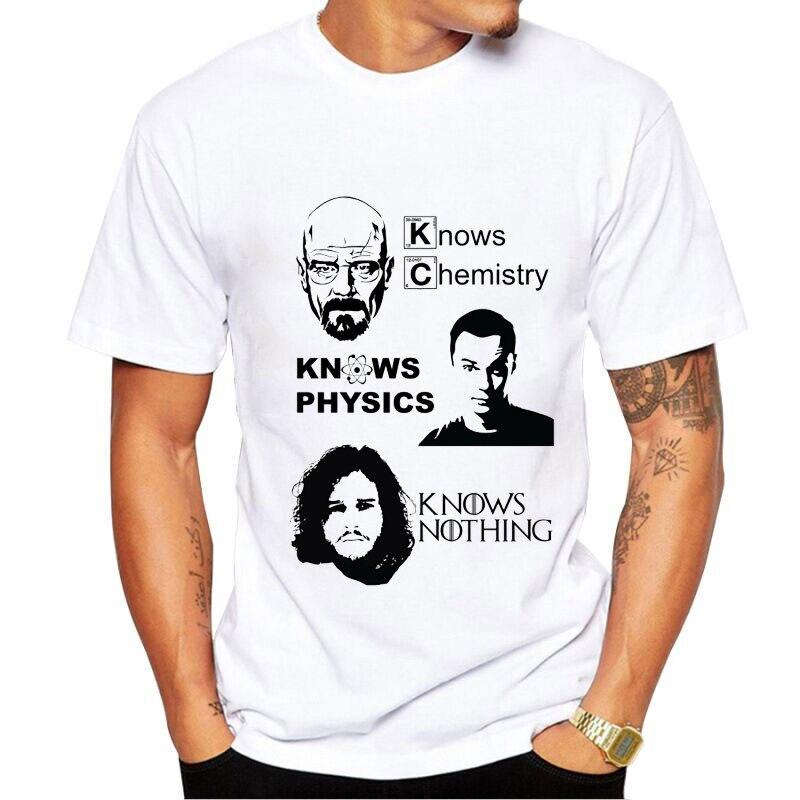Jon Snow Game Of Thrones Tshirt Tee Top T Shirts Mens Funny I KNOW NOTHING T-shirt Homme Hip Hop White Streetwear Tshirt