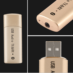Image 2 - 2 In 1 Wireless Bluetooth 4.2 Transmitter Receiver Audio Stereo 3.5mm USB Sender Transmiter Adapter For PC Computer TV Wholesale
