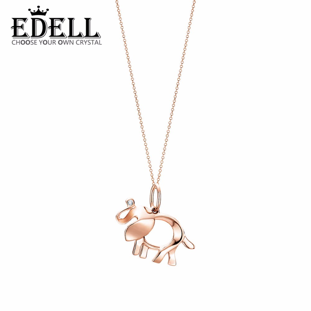 EDELL 925 Sterling Silver 45CM The elephant pendant necklace Pendants & Necklaces Women Jewelry Free Package Mail