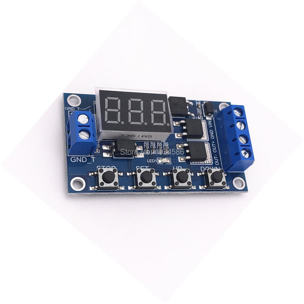 Ws16 12v 24v Trigger Cycle Timer Delay Switch Circuit Control Mos Delayed Switchon Relay Driver 01sec 999min Fet Dual Time Pulse Signal