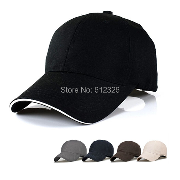 Baseball Hat Plain Cap Blank Curved Visor Hats Men Women Velcro Solid Color - Snoopy store