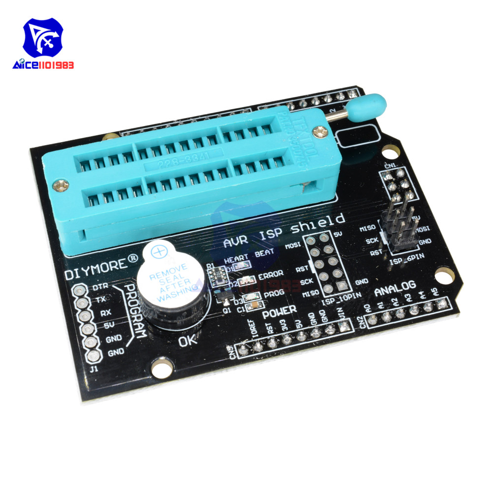 Купить со скидкой diymore AVR ISP Programmable Expansion Shield Board Module for Arduino Uno R3 Mega2560 Atmega328P Na