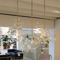Nordic simplicity LED pendant light Creative personality postmodern living room restaurant bedroom bubble ball led pendant lamp