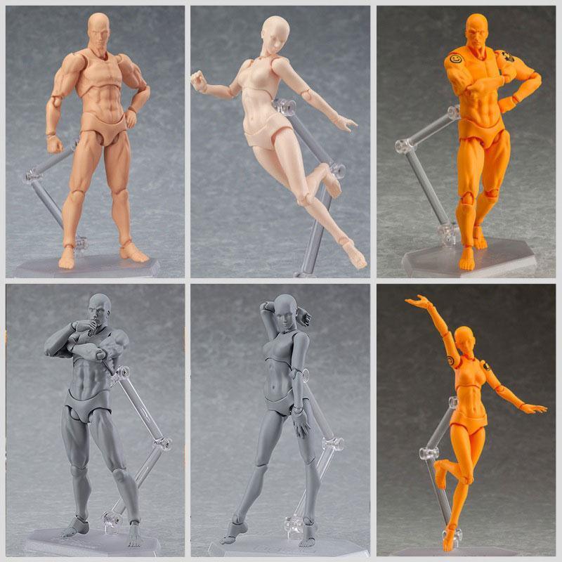 Он/она мужской/женский ПВХ тела Кун тела Чан фигурку тела игрушка для мультфильм рисунок эскиз действие фигура Конструкторы