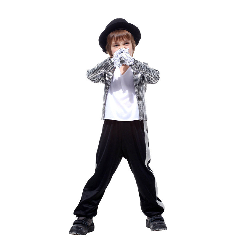 Boys Halloween Masquerade Superstar Michael Jackson Spacewalk Suits