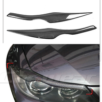 100 Real Carbon Fiber Headlights Eyebrows Eyelids For 2005 2011 BMW E90 E91 4DR