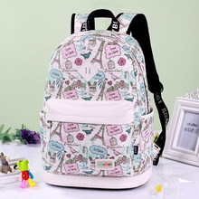 Printing Backpack Canvas Bag Fashion School Bags For Teenagers Durable Laptop Travel