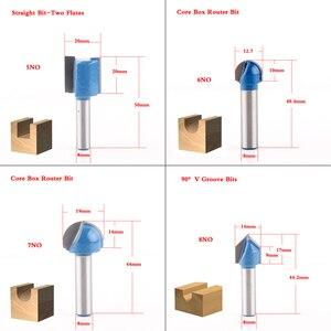 Image 3 - 1pcs 8mm Shank ไม้ Router bit STRAIGHT end Mill Trimmer ทำความสะอาด Flush Trim มุมรอบ Cove กล่อง bits เครื่องมือตัด