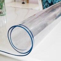 Beibehang PVC vidro macio toalhas de mesa de plástico à prova d' água de condutividade térmica de café esteira esteiras transparente folha de PVC fosco