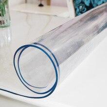 Beibehang pcv miękkie szkło wodoodporna przewodność cieplna obrusy z tworzywa sztucznego maty do kawy przezroczysta matowa mata z blachy pcv