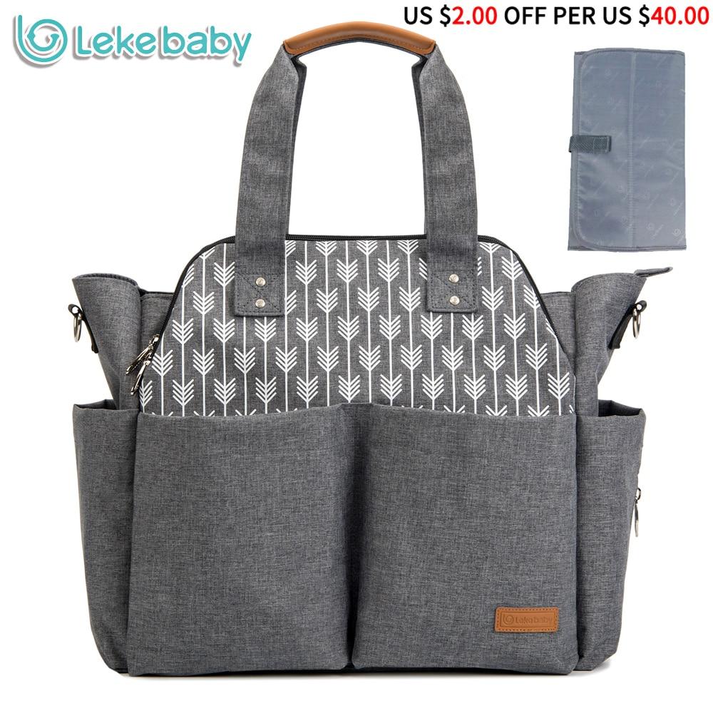 Lekebaby diaper bag multi functional large capacity baby stroller bag waterproof Mother maternity nappy changing bag