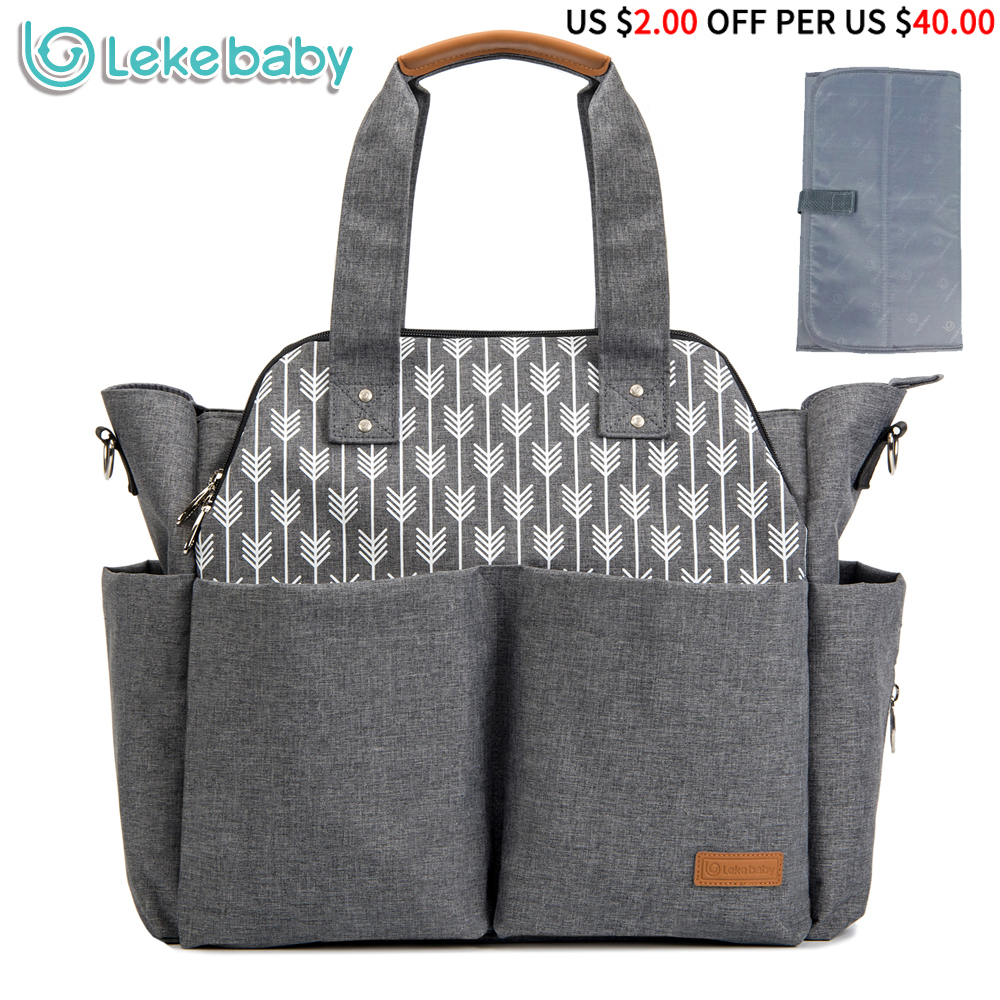 Lekebaby Diaper Bag Multi-functional Large Capacity Baby Stroller Bag Waterproof Mother Maternity Nappy Changing Bag Organizer