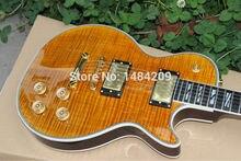 Großhandel-Kostenloser Versand Hohe Qualität Neueste Braun Oberste Elektrische Gitarre OEM Erhältlich