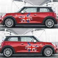 Union Jack Style Fender Door Side Skirt Decals Stickers DIY For Mini Cooper R50 R53 R56 R55 F56 F55 R60 Countryman Car Styling