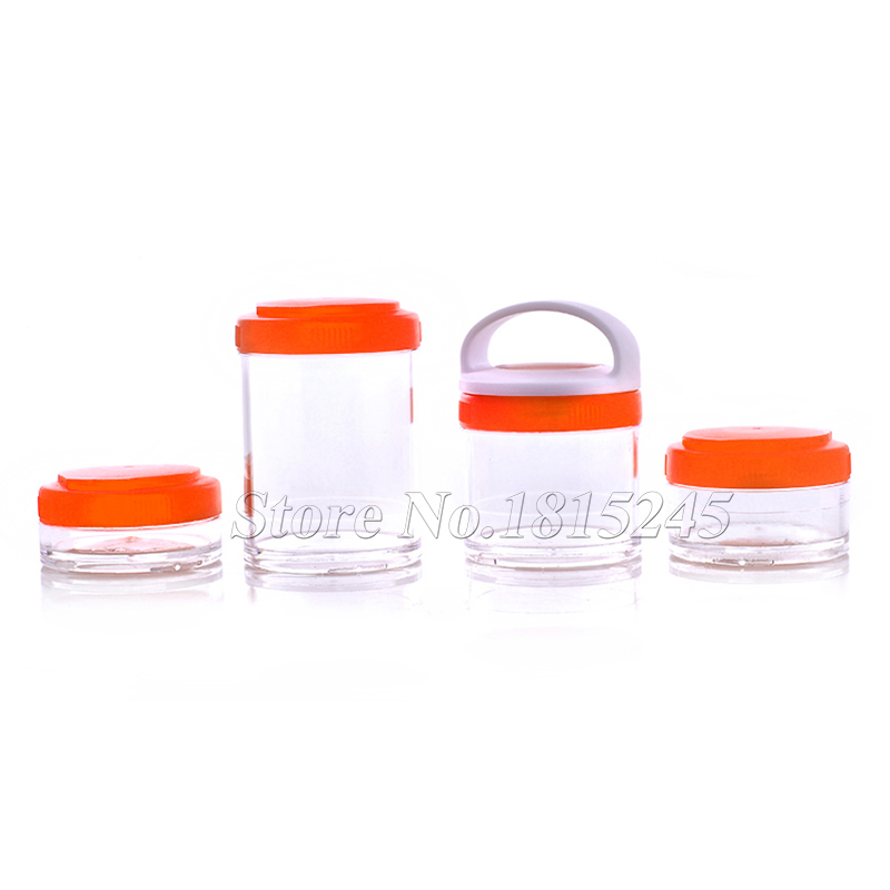 Portable Stackable Protein Powder Container Nutritional Supplement