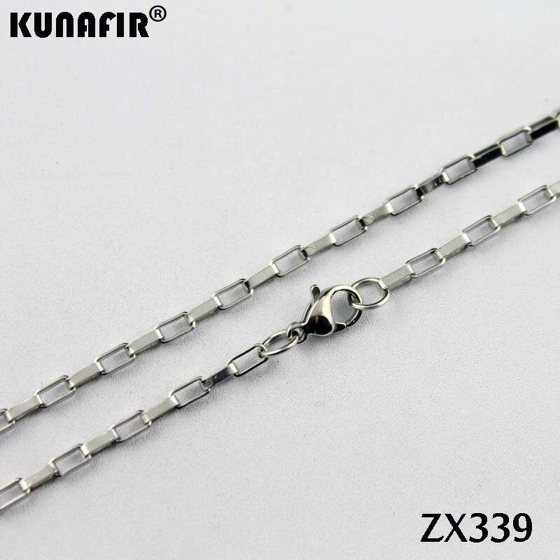 """1""""-38"""" 2,5 мм длинная коробка цепь из нержавеющей стали ожерелье изысканные женские модные ювелирные цепи 20 шт ZX339"""