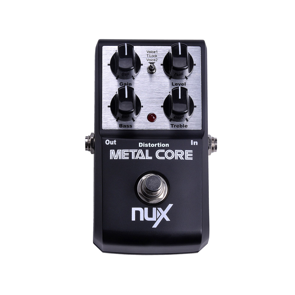 NUX Metal Core Distortion Stomp Boxes Electric Guitar Bass DSP Effect Pedal 2 Metal Hardcore Sound True Bypass nux amp force guitar effect pedal stomp boxes dsp modeling amp cabinet simulator 9 user presets true bypass