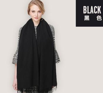 Bufanda chal pashmina lana Cachemira bufanda combinada mujer invierno bufandas gruesas negras alta calidad Tela natural envío gratis