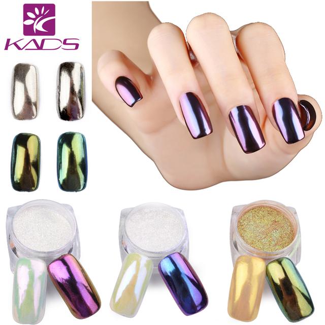 KADS 1g/Box Gold Sliver Nail Glitter Powder Shinning Nail Art DIY Chrome Pigment Glitters Nail Art Chrome Pigment Glitters Dust