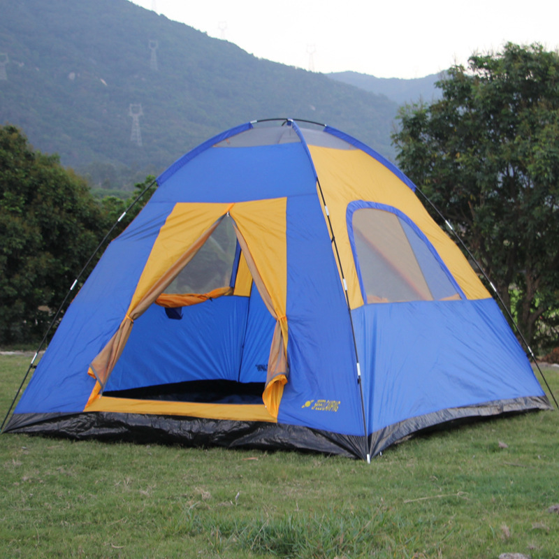 Tall and big space Outdoor c&ing tent 4 5 6 person double layer big space 2m tall tent family tent-in Tents from Sports u0026 Entertainment on Aliexpress.com ... & Tall and big space Outdoor camping tent 4 5 6 person double layer ...