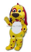 Маскоты Прекрасный желтый собака щенок взрослый костюм Маскоты для продажи животных Маскоты костюм рекламы карнавальный костюм животного