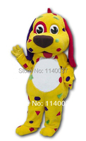 mascot Lovely Yellow Dog Puppy Adult Costume Mascot for Sale Animal Mascot Costume Advertising Carnival Animal Costume