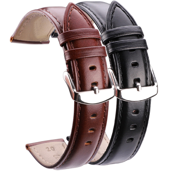 Black Brown Watchbands 18mm 19mm 20mm 21mm 22mm 24mm High Quality Smooth Watch Band Strap With Pin Buckle Watches Accessories 18mm 24mm watch band strap brown black high quality genuine leather watchbands bracelet accessories deployment buckle