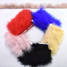 wholesale fluffy Marabou feathers trimming for Clothing 5-8cm natural ribbon crafts DIY wedding party decorative