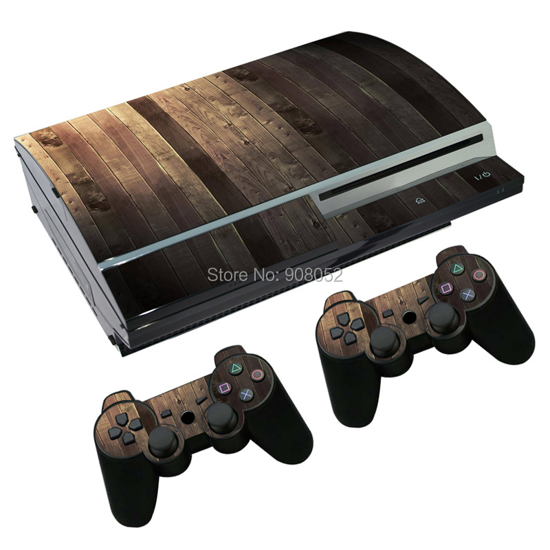 Hot sale light wooden sticker for ps3 fat stickers for sony ps3 playstation 4 console and 2 - Playstation one console for sale ...
