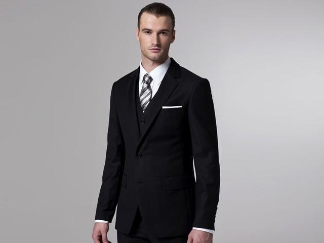 Black Man Suits Skinny Jackets Pants Vest tie 4 pieces Suit Tailor ...