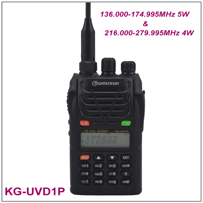 100% New Original Wouxun KG-UVD1P Dual Band Radio 136.000-174.995MHz & 216.000-279.995MHz FM Transceiver