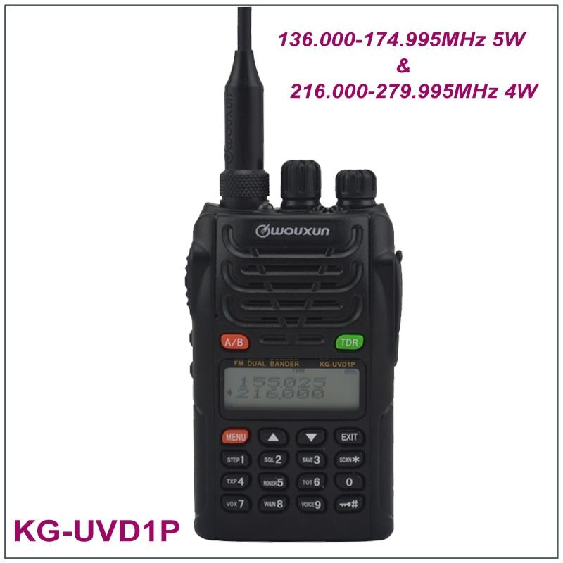 100% New Original Wouxun KG-UVD1P Dual Band Radio 136.000-174.995MHz & 216.000-279.995MHz FM Transceiver