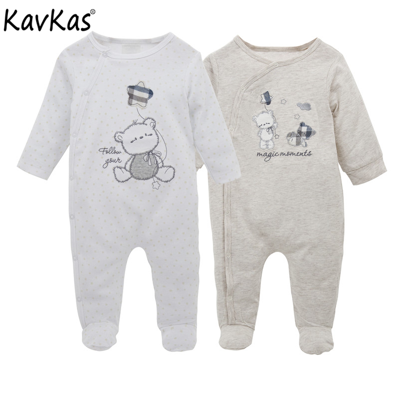 Kavkas 2 pcs/set Baby Rompers Spring Baby Boy Clothes New Born Boy Clothes Baby Girl Clothing Set Roupas Bebe Infant Jumpsuits summer new baby rompers cotton baby girl clothes short sleeve pink big eye jumpsuits roupas bebes infant clothing