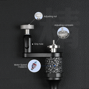 Image 5 - Stigma Rotary Tattoo Machine Adjustable Liner and Shader Tatoo Gun DC 5.5 Connection Powerful Strong Motor Aluminum Clip M683