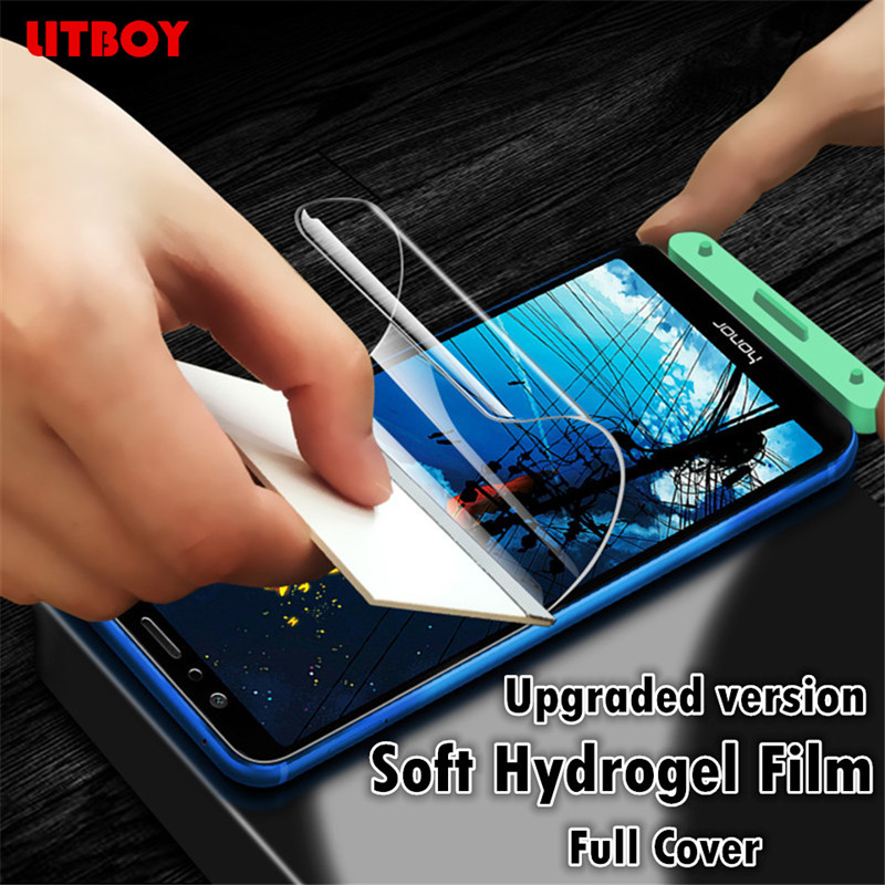 Купить со скидкой 10D Full Cover Soft Hydrogel Film For Huawei Honor 9 8 lite V10 V9 Play V20 8X Screen Protector Film