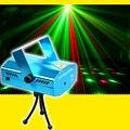 Мини Лазерное сценическое освещение 150 МВт Красный Зеленый Поворотный звездный узор звуковая активация мини лазерный сценический световой...